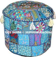 40 DIY Ideas for Decorative Floor Pillows & Cases Hippie Bedroom Decor, Gypsy Decor, Bohemian Decor, Hippie Bedrooms, Round Floor Pillow, Floor Pillows, Hippy Room, Bean Bag Covers, Bohemian House