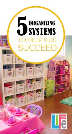 All kids need to organized to some degree. These are successful systems any… Organize Your Life, Organize Kids, All Kids, Toy Organization, Getting Organized, Girl Room, Kids Playing, Decoration, Diy Projects