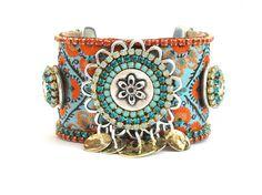 Indian gypsy queen  bohemian hippie  ribbon studs by OOAKjewelz, €100.00
