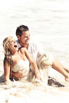 This trash the dress is really cute! They look so happy :)