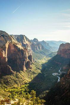 This view from Angels Landing is incredible!  Check it out as part of this list of 10 things you can't miss in Zion National Park!
