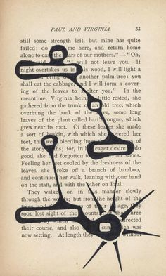 Found poetry - Making poems from words on the page. | Postertext