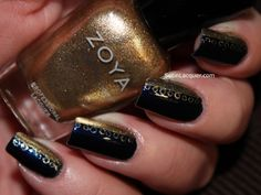 Lacy nail art using Zoya Ibiza and Ziv