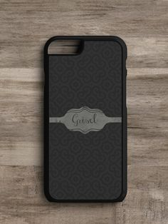 Personalized Swirl Gray- Cell Phone Case