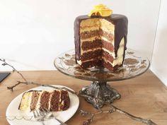Schokoladen Orangen Ombre Torte