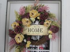 Spring Wreath.Easter Wreath.Floral by AutumnsEchoShoppe on Etsy, $75.00