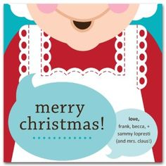 Mrs. Claus Christmas card template from the Printable Holiday