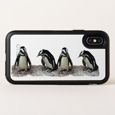 White and Black Penguins OtterBox iPhone X Case - black gifts unique cool diy customize personalize