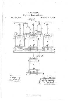 Brewing Beer and Ale. Louis Pasteur, Patent Drawing, Technical Drawing, Beer Brewing, Ale, Drawings, Vintage, Ideas, Beer