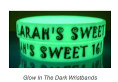 Glow In The Dark Silicone Wristbands.