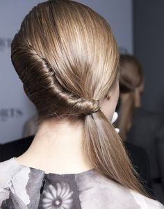 Milan Fashion Week Side Pony Tail by Wella #hair style