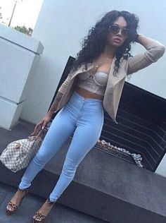 girl fashion outfit style clothes hair lips eyes beauty shoes high heels. Pinterest: follow  @brittanymd_ for poppin looks ✨