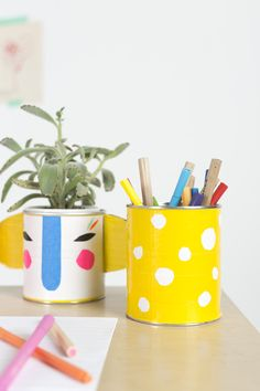 Mer Mag: Make Your Own Duct Tape Pencil Holders  – And Back to School Homework Station