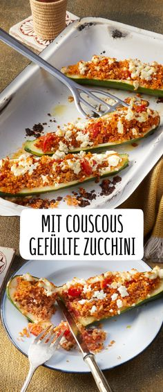 Mit Couscous gefüllte Zucchini This durum wheat semolina is found in many recipes, because it is irresistibly delicious! Discover our REWE recipe for zucchini stuffed with couscous! Veggie Recipes, Vegetarian Recipes, Cooking Recipes, Healthy Recipes, Eat Smart, Superfood, Food Inspiration, Love Food, Meal Prep