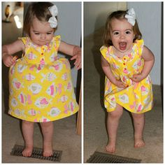 The moment in a little girl's life when she realizes dresses can do this!