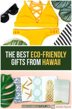 21 Sustainable Businesses in Hawaii to Support | Borders & Bucket Lists Eco-friendly gifts from Hawaii, gifts from Hawaii, eco-friendly living, eco-friendly products, eco-friendly gifts, sustainable products, sustainable living, sustainable gifts, Hawaii gifts, Hawaii gift basket, Hawaii present ideas #hawaii #gift #present #ecofriendly #sustainable