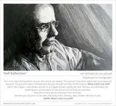 ART SATSANG: Self Reflection graphite drawing by Colleen-Joy