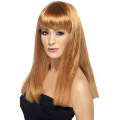 Looking for Glamourama Wig, Auburn? Get it from our wholesale Ladies Glamour Wigs range today. Visits Smiffy's wholesale for all your Wigs needs today. Fancy Dress Wigs, Ladies Fancy Dress, Gangster Fancy Dress, Straight Fringes, Babe, Blue Wig, Fancy Dress Accessories, Halloween Costume Accessories, Glamour