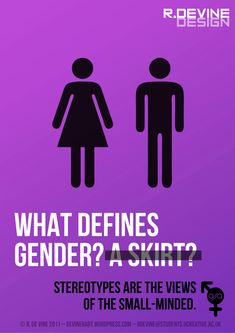 At first glance when looking at this picture we see common symbols differentiating male and female restrooms however it forces us to consider genders that don't necessarily fit into that category.