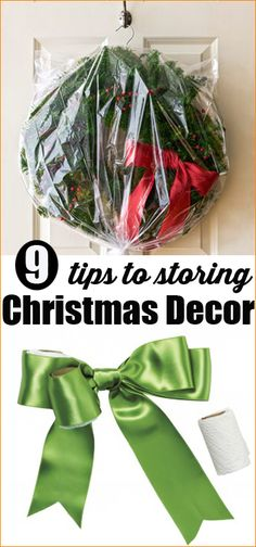 Ways to Store Christmas Decorations.  Keep your Christmas decor from tangling, braking and getting smashed with these great tips and tricks.