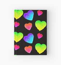 Cute colorful cloudy watercolor hearts pattern. • Millions of unique designs by independent artists. Find your thing.