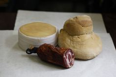 Portuguese cheese, bread, and handmade sausage