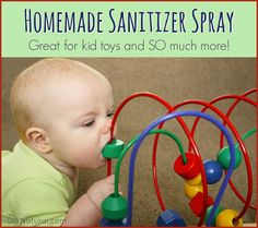 This homemade sanitizer spray is what I use for everyday cleaning and sanitizing so we keep a big bottle on hand. It's natural, safe, and works very well!