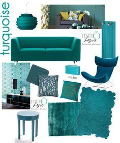 Turquoise : déclinaison de meubles et accessoires. Conseil déco Lille