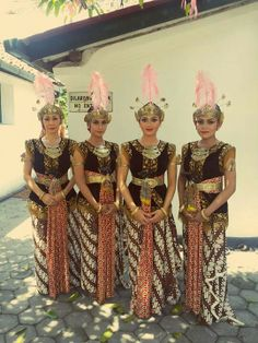 Beautiful kraton dancers. Yogyakarta.