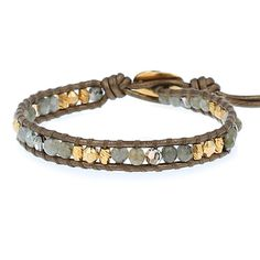 Chan Luu - Labradorite Mix Single Wrap Bracelet on Kansa Leather, $90.00 (http://www.chanluu.com/bracelets/labradorite-mix-single-wrap-bracelet-on-kansa-leather/)