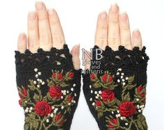Knitted Fingerless Gloves Gloves & Mittens Gift Ideas | Etsy
