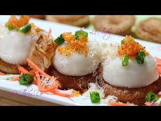 (1716) Bánh Ram Ít Giòn Xốp Dẻo Ngon - Steamed Fried Sticky Rice Cakes - YouTube