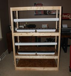 How to build an indoor seed-starting rack--cheap!