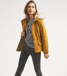ONLY ONLLUCCA żółta Kurtka przejściowa golden brown