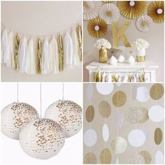 ideas-para-decorar-cumpleanos-dorado-y-blanco