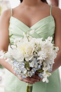Here's a sweet pastel bridesmaid's bouquet for a spring wedding.