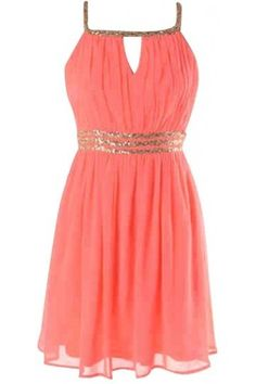 Coral Sequin Dress from Kely Clothing. Saved to Party Dresses. Shop more products from Kely Clothing on Wanelo.