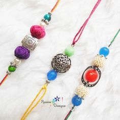 A Wide Collection of Handmade Rakhis for this Rakshabandhan by Rennie Designs. Complete Collection Available at: http://www.indiebazaar.com/shop/RennieDesigns/rakhi?sort=mr
