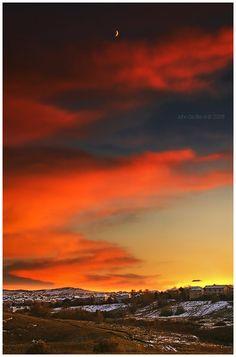 Winter Sunset at Highlands Ranch, Colorado | HRCA | Highlands Ranch | Colorado | CO