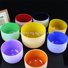 c1732e05106 Hot sales cheap Chakra Set Color Quartz Crystal Singing Bowls With Rubber O  ring