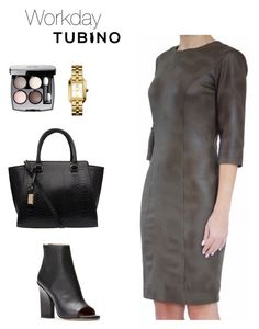 Olive workday by tubino-skirts-dresses on Polyvore featuring mode, Tory Burch and Chanel