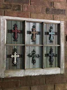 A personal favorite from my Etsy shop https://www.etsy.com/listing/522260999/cross-wall-piece-using-old-windowframe