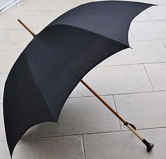 RARE Antique Art Deco Fox Paragon Ladies Umbrella Ornate Black & White Handle #SFoxParagon #Formal