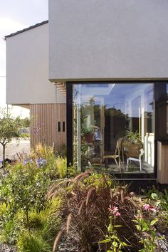 A certified passive house completed recently in South Dublin It was designed as a four bed home/office. The limited access corner garden site with good. Room With Plants, Plant Rooms, Garden Site, Corner Garden, Passive House, Home Projects, Home Office, Building A House, Architects