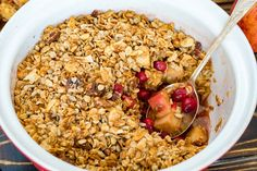 A WARM - filling Winter Breakfast idea! Makes 6 servings Ingredients: 2 lbs apples, peeled, cored and chopped 1 1/2 cup fresh cranberries 1 Tbsp orange zest 1 tsp cinnamon 1 tsp nutmeg Additional zest from one orange 4 packets stevia extract (or other sweetener of choice) For the crisp topping:...