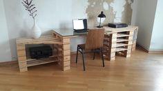 Paletten Schreibtisch DIY
