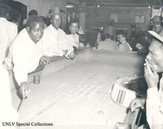 Craps game in the El Morroco on the Westside of Las Vegas in the 1950s, as detailed in the oral history of Clarence Ray (Collection # 0326, Photo # 0004).
