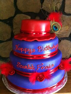 Red Hat Society cake.. This one was really fun to make, I'm happy with how it turned out. :-)