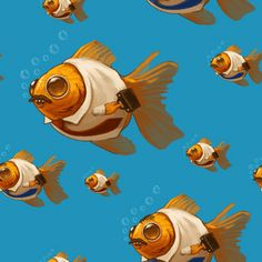 SP Goldfish Pattern by *MikePMitchell