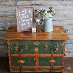 antique steamer trunk turned coffee table, diy, home decor, repurposing upcycling, woodworking projects